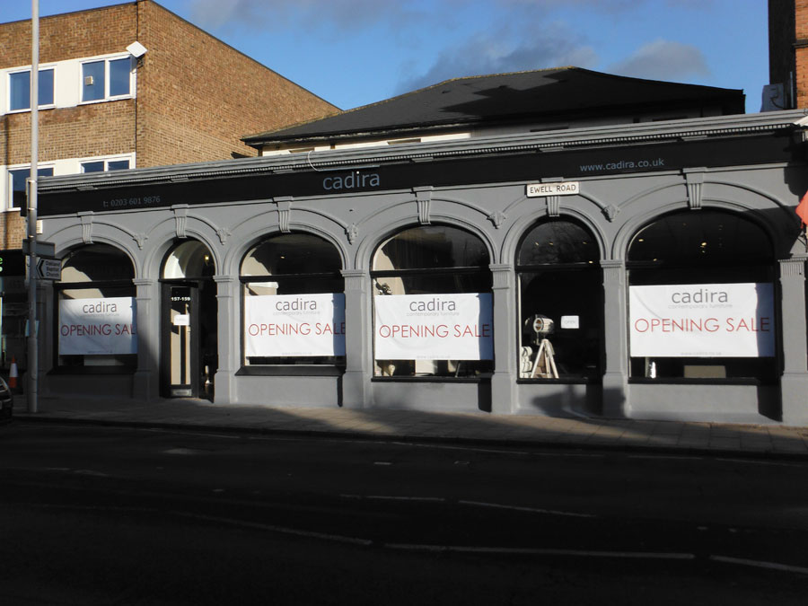 Cadira showroom shopfront Ewell Road