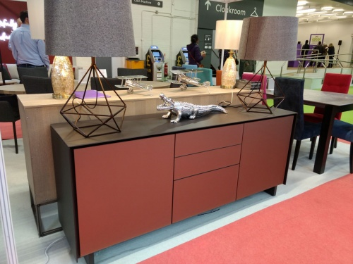 BOOK Sideboard S03 185cm matt bronze glass with drawers