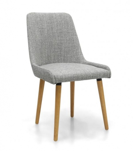 Catania dining chair grey fabric