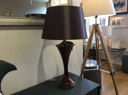 Bronze mosaic statement lamp display