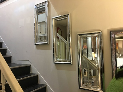 Bowen trio chrome frame mirror display