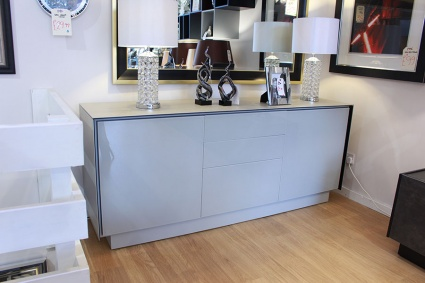 BOOK Sideboard S03 in Blaze grey frame with drawers 185cm display