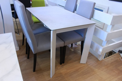 Link ceramic top ext. dining table 120/180x70cm display