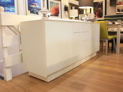 BOOK Sideboard 07 matt glass fronts and frame 185cm