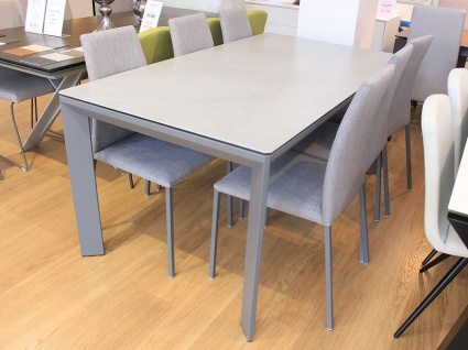 Urban ceramic ext. dining table 165/265x90cm with 6x Chic dining chairs
