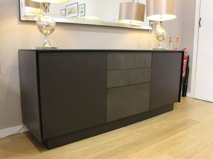BOOK Sideboard S03 in Blaze Dark frame with drawers 185cm display