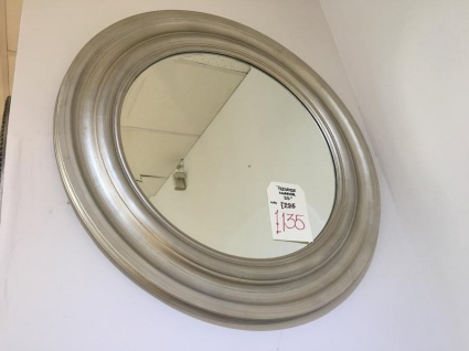 Trevose round silver mirror display