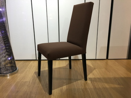 Dakota dining chair in brown faux leather x4