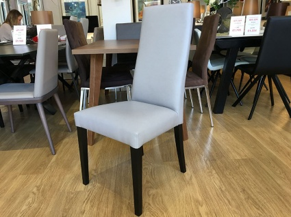 Praga dining chair in faux leather display x6