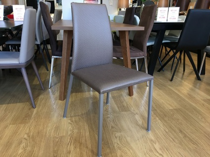 Chic dining chair in faux leather display x6