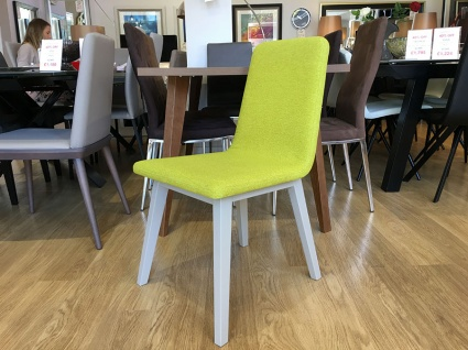Rania dining chair in fabric x6 display