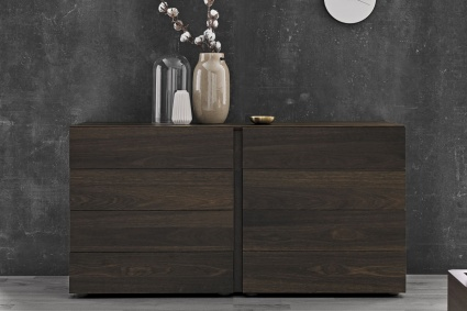Kinun chest of drawers in dark oak