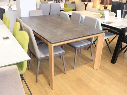 Neo ceramic top ext. dining table in iron grey 175/255x100cm