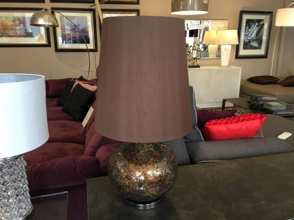 Brown Sparkle Mosaic table lamp display