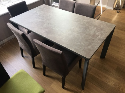 Urban ceramic ext. dining table 165/265cm + 6 Tania chairs