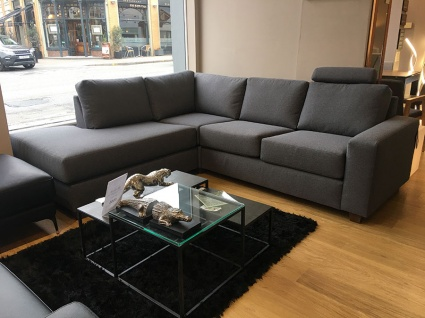 Charles open corner sofa with headrest display  315x227cm