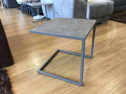 Life ceramic side table in mink display 46x46cm