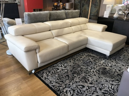 Cuzco large sofa chaise in premium leather 306cm
