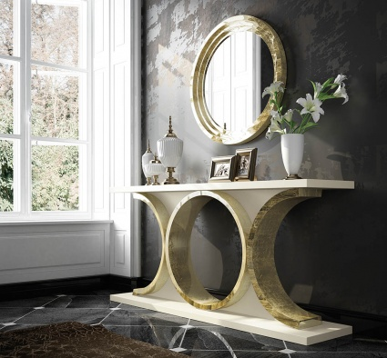 Luxe Console with matching mirror 027