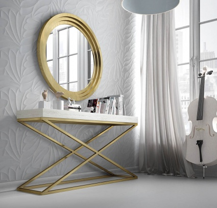 Luxe console with matching mirror 037