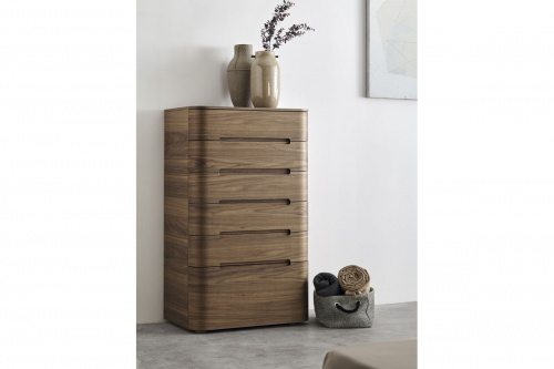 SURF tall chest of drawers in walnut