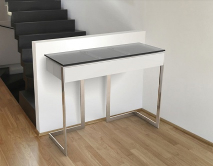 Conduction console table with drawer