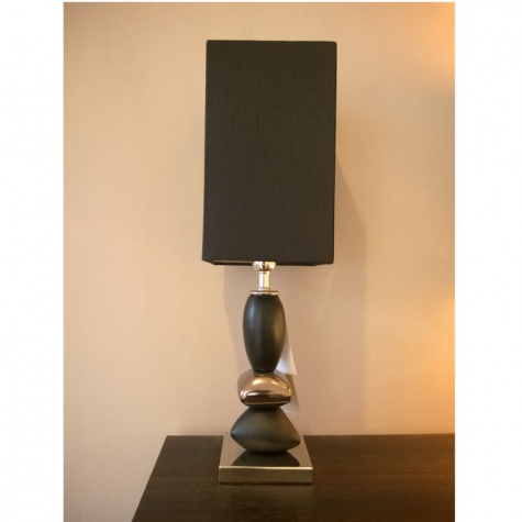 Black pebble small lamp