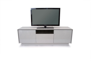 BOOK grey glass TV stand
