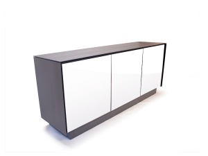 BOOK sideboard 01 ceramic frame with glass front