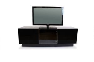 BOOK black glass TV stand 02
