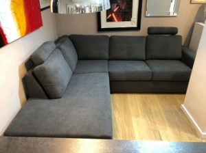 Charles open corner sofa with headrest display  253x227cm