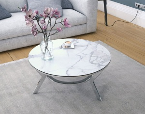 Ellipse ceramic coffee table
