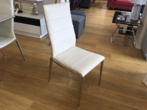 Hermes dining chair in cream display x4