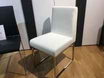 Beverly dining chairs in white display x6