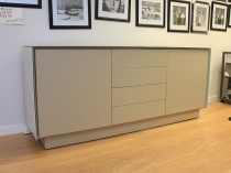 BOOK Sideboard 03 ceramic frame and matt lacquered fronts