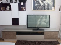 BOOK TV stand glass frame and porcelain fronts 245cm
