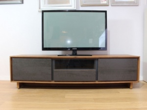 BOOK TV stand in vintage wood display 186.2cm