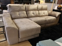 Meridian sofa and chaise in fabric 272x155cm display