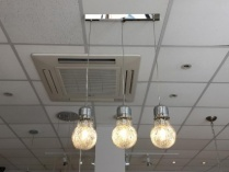 Trio giant bulb pendant display