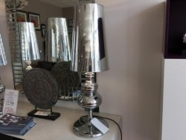 Fantom chrome table lamp display