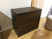 Fusion chest of drawers in wengue display
