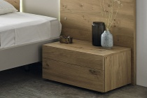 Kinun bedside cabinet 2 drawers in rustic Oak