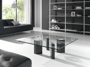 LOGIC square glass coffee table