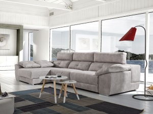 Meridian sofa with storage chaise