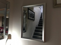 Gisborn silver frame mirror display
