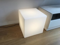 Cube floor lamp display