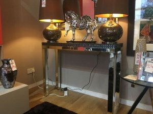Alabama mirrored console table 110cm