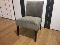 Tania dining chair in fabric display x6