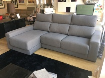 Firenze sofa and chaise fabric display 250cm