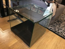 Mont Blanc curved glass side table display
